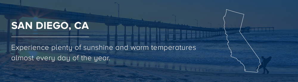Warm temperatures for boating in San Diego