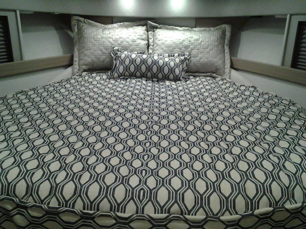 An example of customization that FormulaFlex offers, with a custom interior bed.