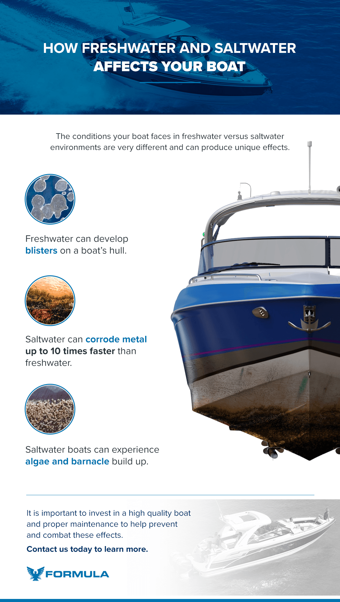 How Freshwater and Saltwater Affects Your Boat