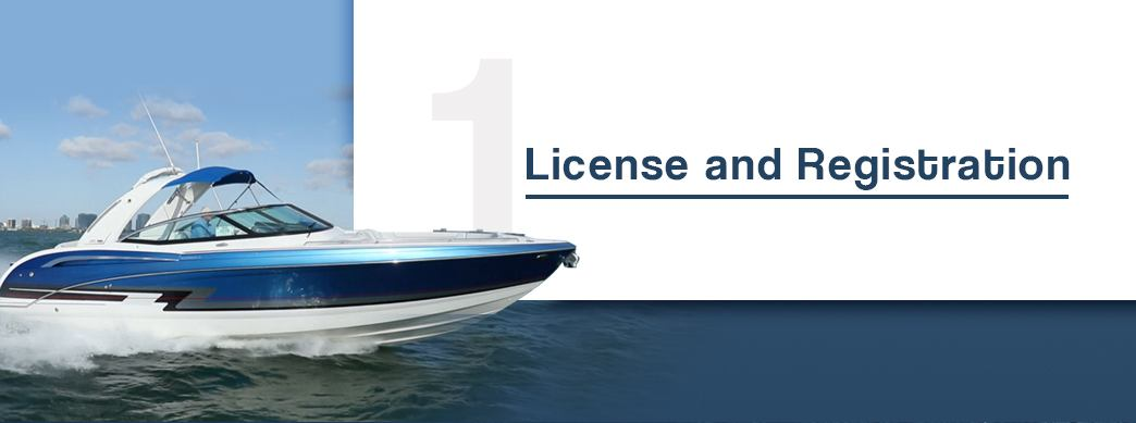 boat licence and registrations, image of boat