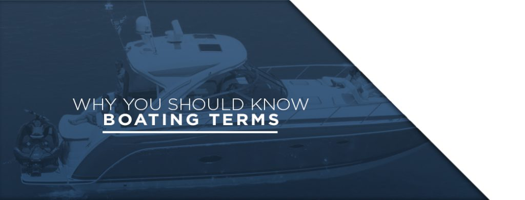 "A banner with the words ""Why You Should Know Boating Terms."" Used as a banner for the article which explains boating terminology."