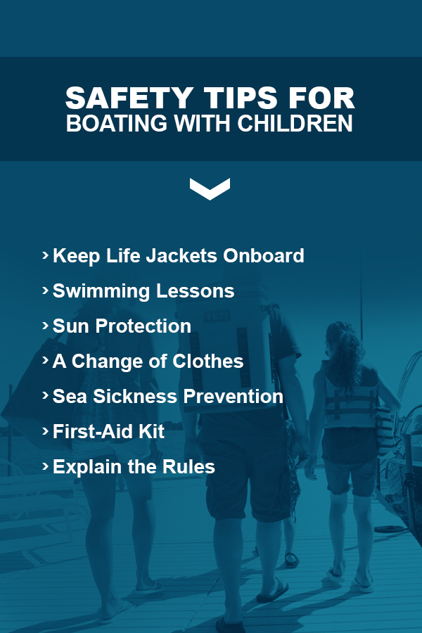 """A banner to pair with the """"Safety tips for boating with children"""" section of the article."""