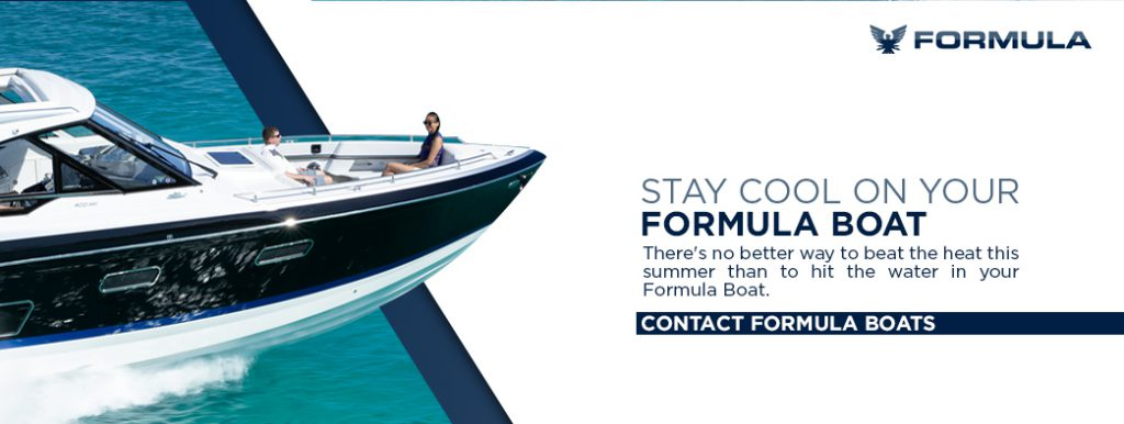 A banner inviting readers to contact Formula Boats. Mostly here for illustrative purposes.