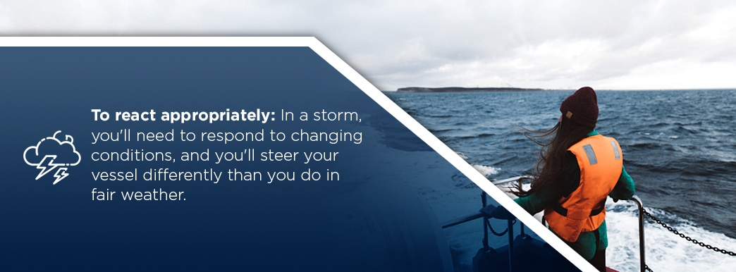 Importance of understanding weather while boating