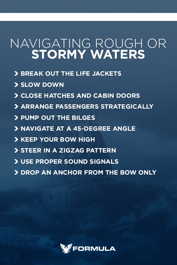 navigating rough or stormy waters